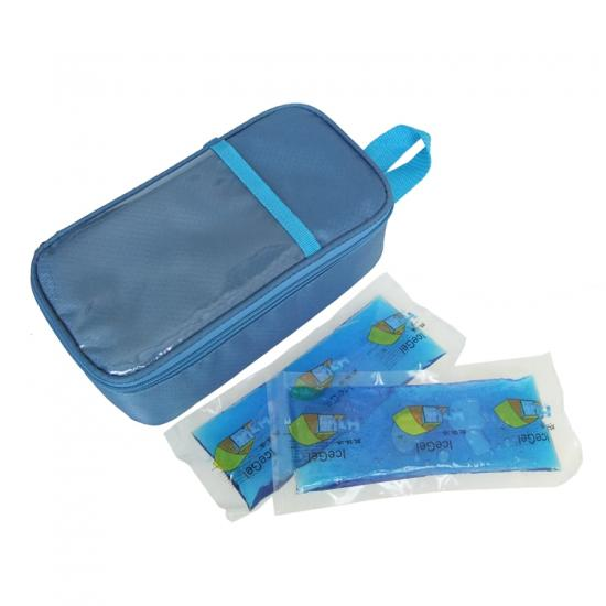 Blue diabetes insulin pen cooler bag